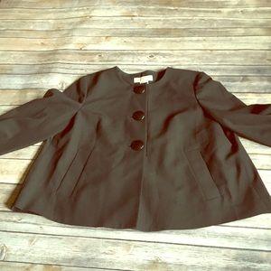 MICHAEL Michael Kors Pleated Back Jacket